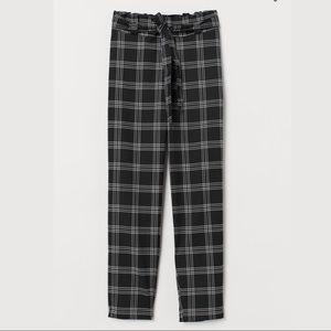 H&M Paper bag Checkered pant